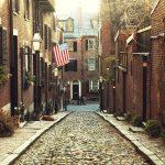 Acorn Street. Beacon Hill, Boston.